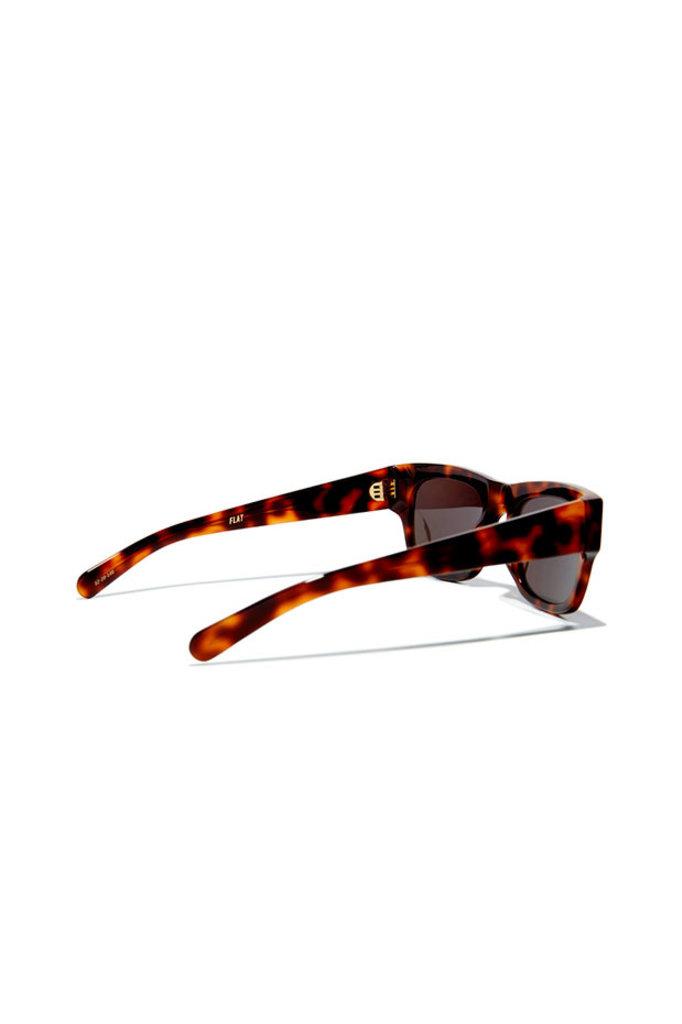 Flatlist flat sunglasses - tortoise/solid black