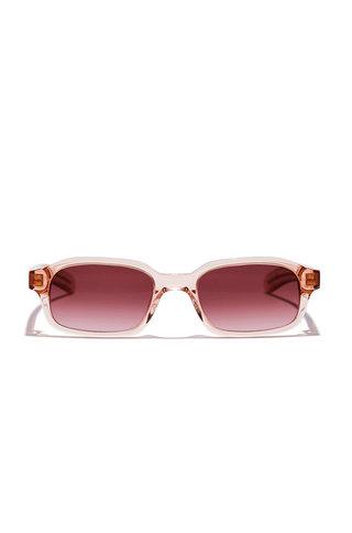 Flatlist hanky sunglasses - crystal blush/mahogany grad.