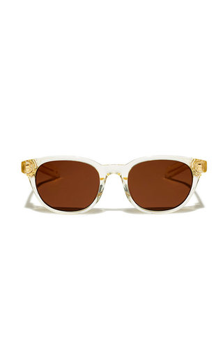 Flatlist logic sunglasses - crystal yellow/solid dark brown