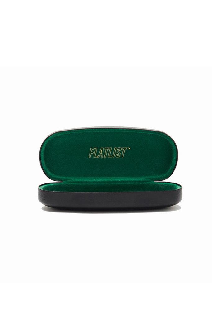 Flatlist logic sunglasses - crystal yellow/solid dark brown