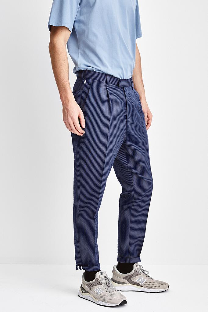 the Goodpeople bronx pants - mid blue navy