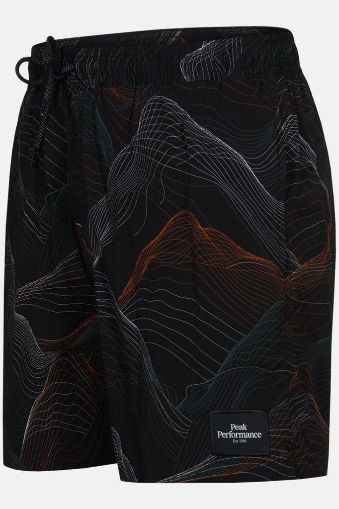 Peak Performance swishopr swimshort - black print