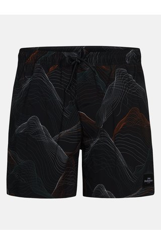 Peak Performance swishopr swimshort - black print