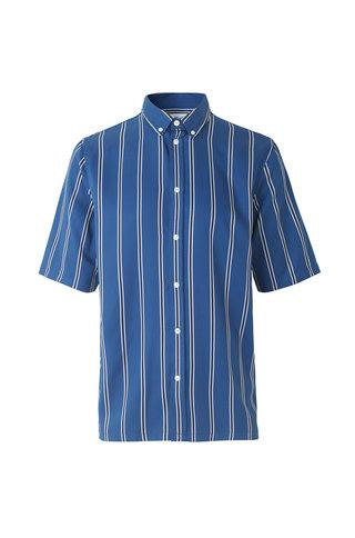 samsoe samsoe taro nx 10806 shirt blue depths stripe