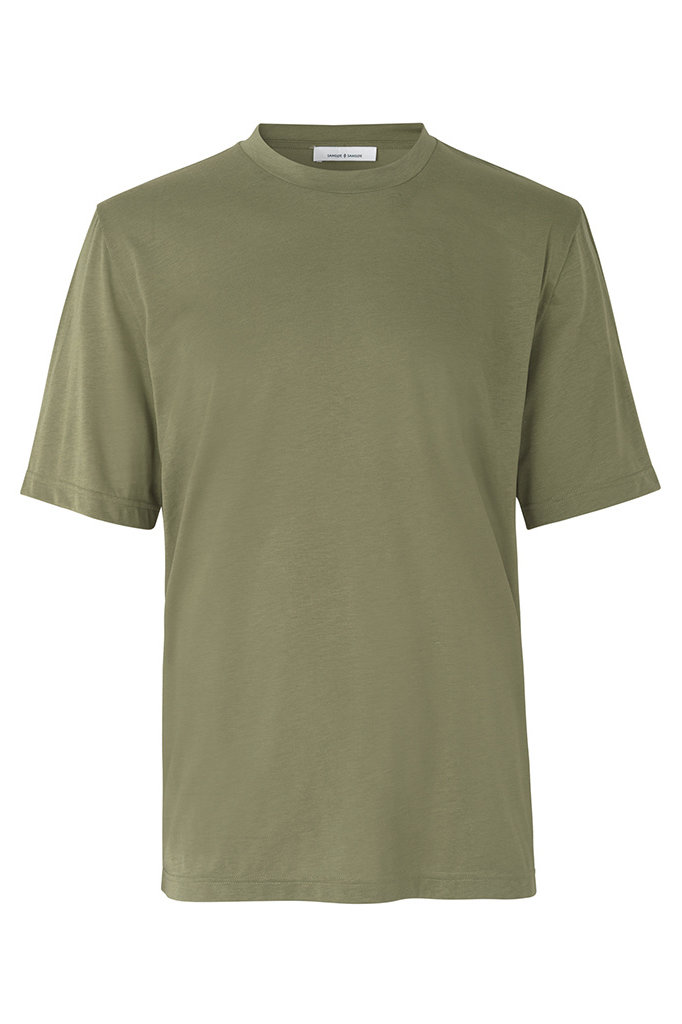 samsoe samsoe toke 11069 ss tshirt deep lichen green