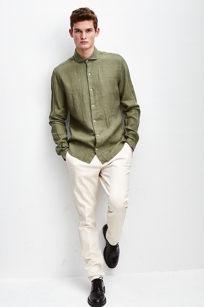the Goodpeople soho shirt army green