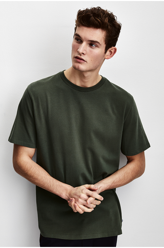 the Goodpeople ted tshirt army green