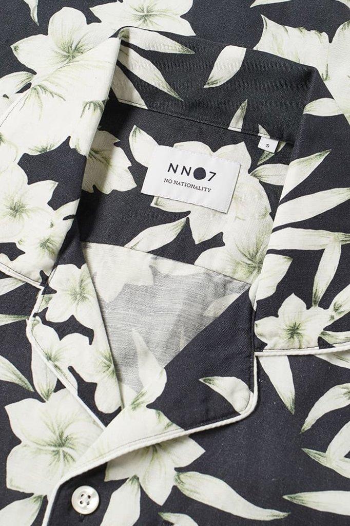 nn07 paris 5030 shirt - navy floral print