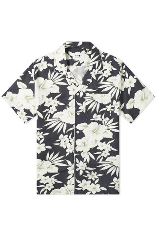 nn07 paris 5030 shirt - navy floral print