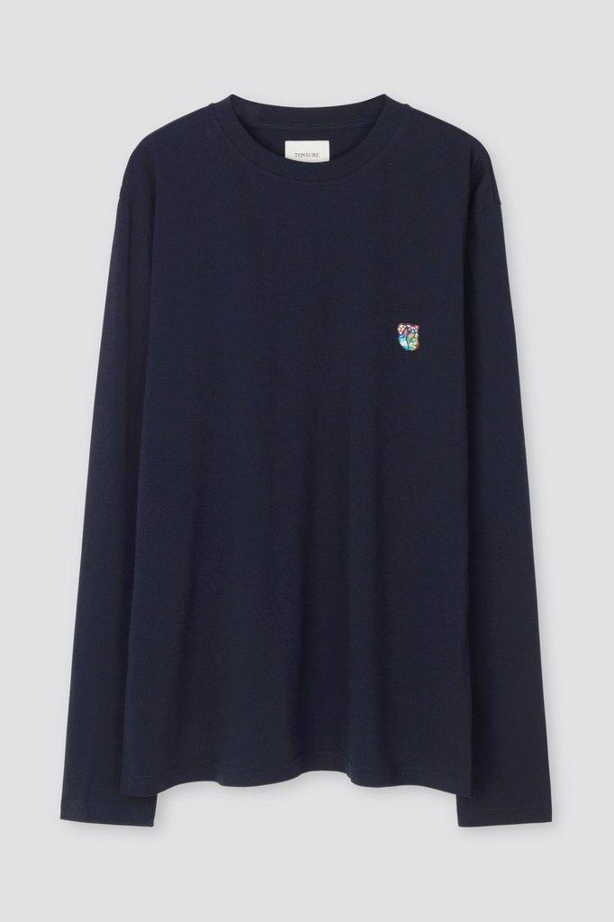 tonsure david ls t-shirt - dark navy