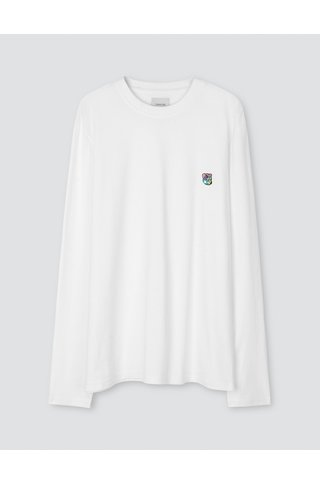 tonsure david ls t-shirt - white