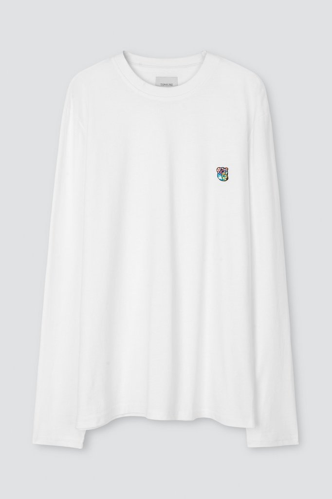 tonsure david ls t-shirt - white