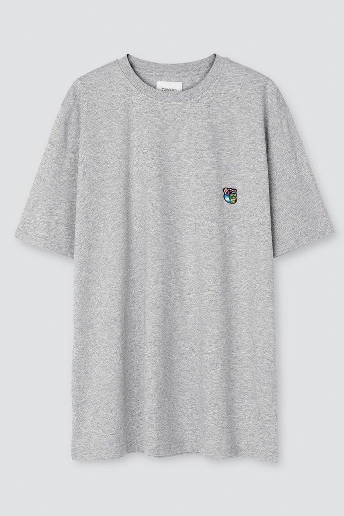 tonsure frank t-shirt - grey mel