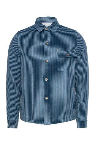 law of the sea lake jacket indigo pinstripe