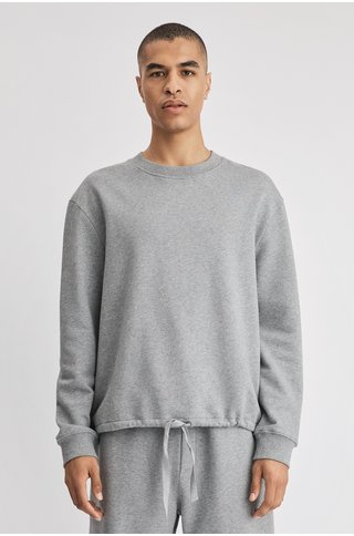 filippa k felix sweater - grey melange