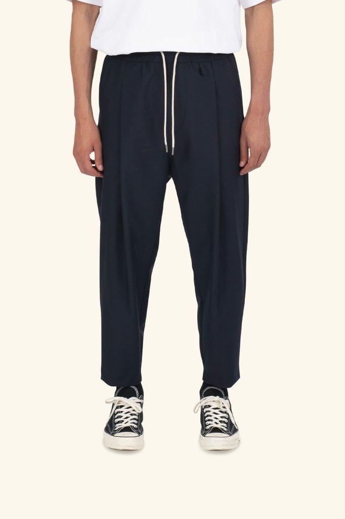 drôle de monsieur wool cropped pants - navy