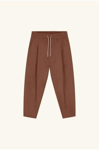 drôle de monsieur wool cropped pants - brown