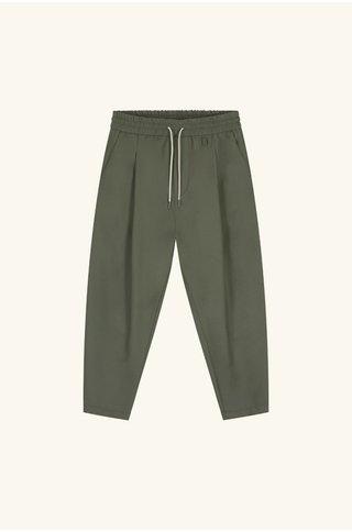 drôle de monsieur wool cropped pants - kaki
