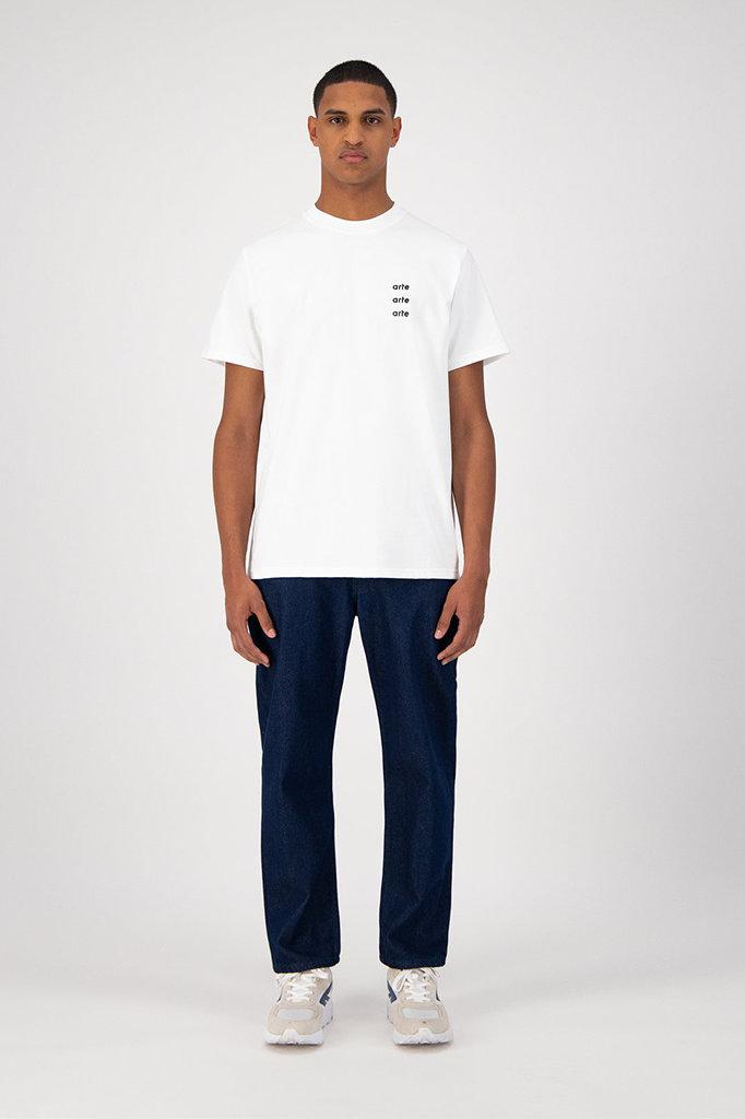 arte toby multi logo t-shirt - white