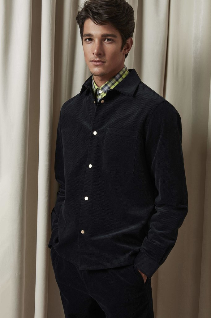 nn07 basso 1427 shirt - navy blue