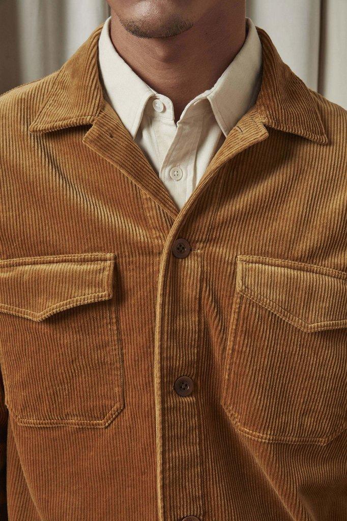 nn07 bernard 1322 overshirt - camel