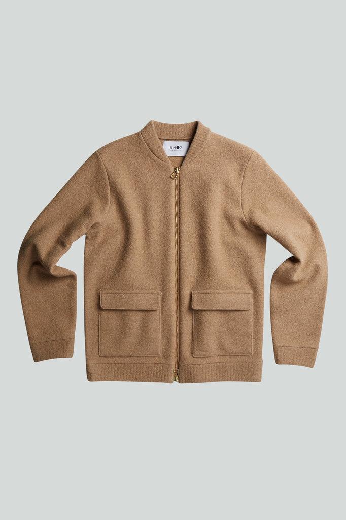 nn07 boiled bomber 6426 jacket - camel