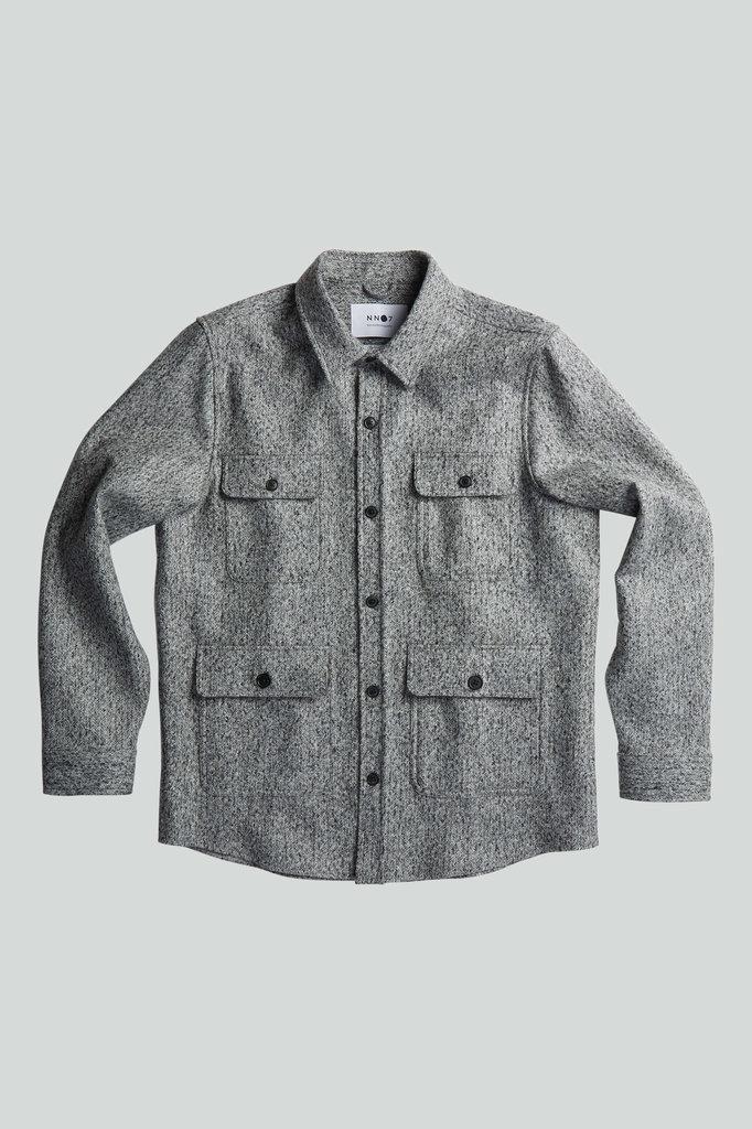 nn07 eddard 5024 overshirt - black multi