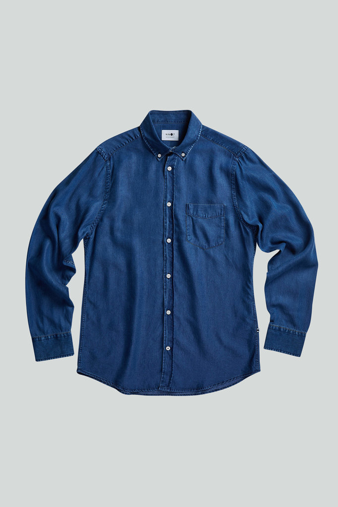 nn07 manza slim 5767 shirt - dark indigo