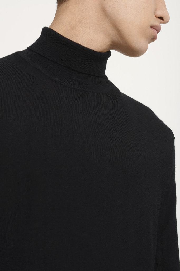 samsoe samsoe flemming 3111 turtle neck - black
