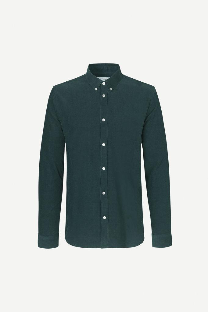 samsoe samsoe liam bx 10504 shirt - darkest spruce