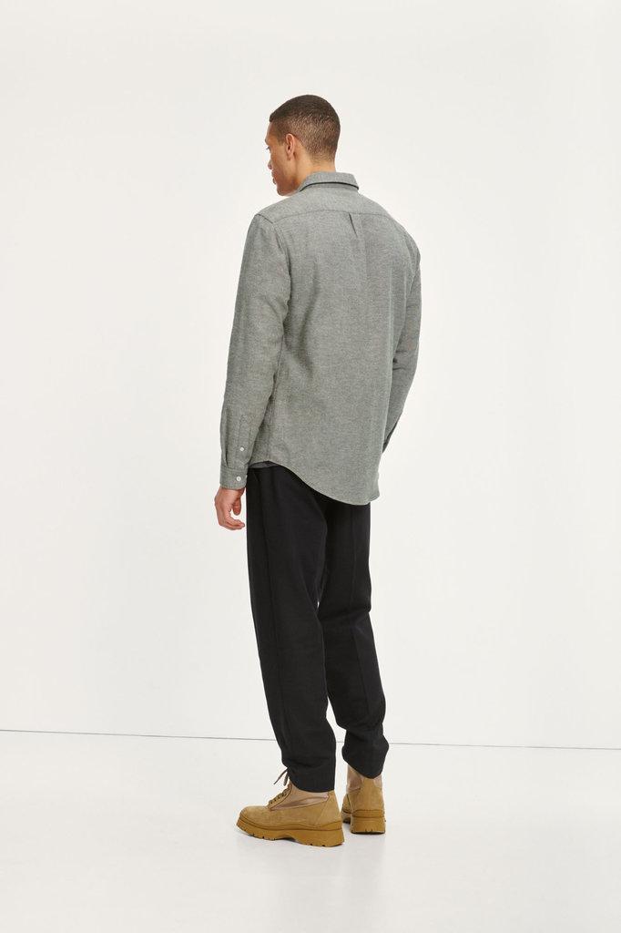 samsoe samsoe liam nf 7383 shirt - dark olive melange