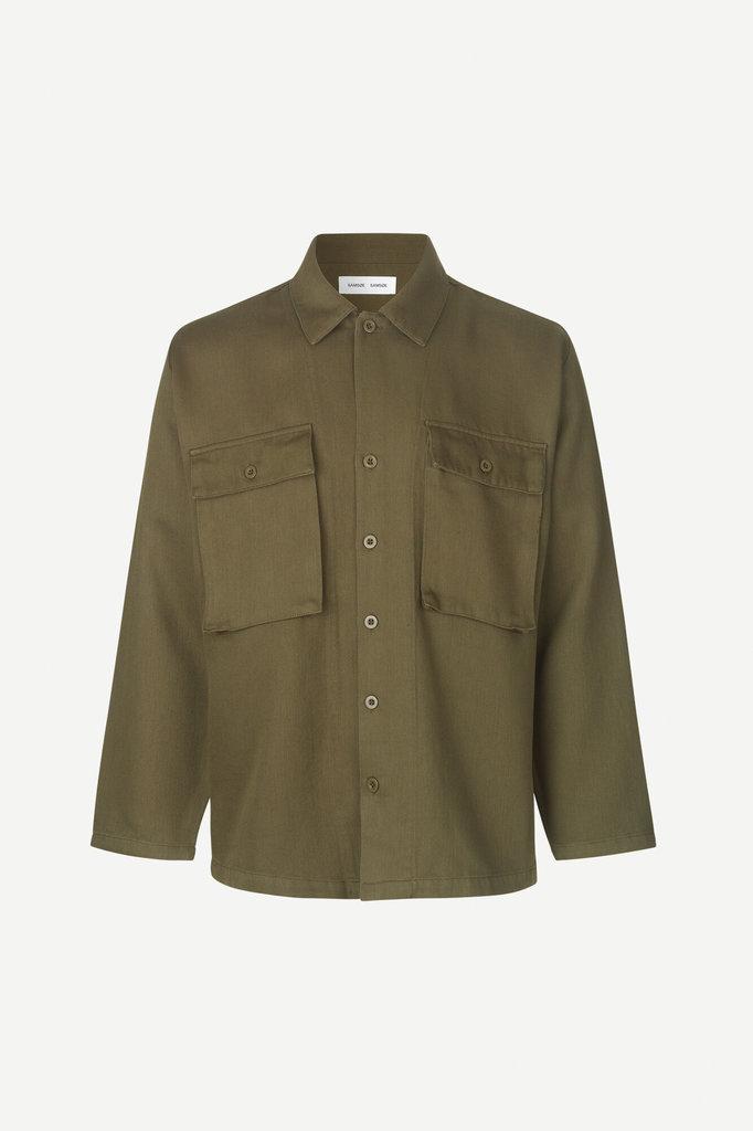 samsoe samsoe vega 12804 shirt - dark olive