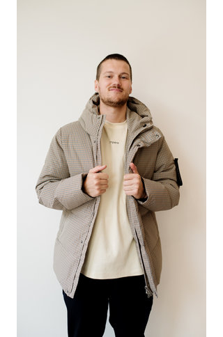 elvine bror jacket - brown check