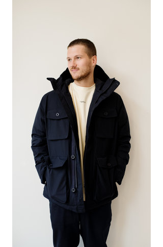 nn07 goff 8207 goretex coat - navy blue