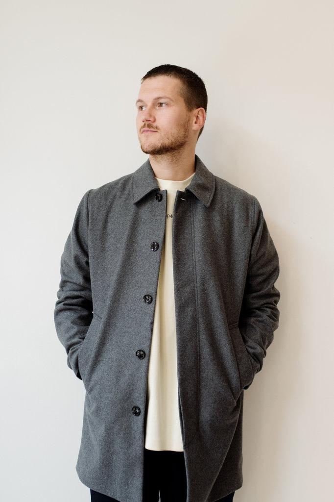 samsoe samsoe kenpo x 12825 coat - grey melange