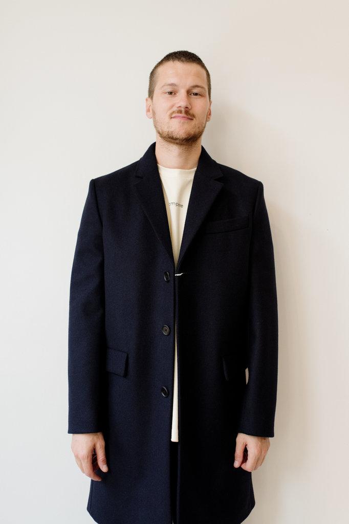 filippa k rhine coat - navy