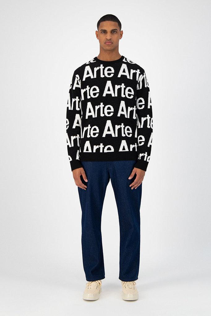 arte kameron allover knit - black white