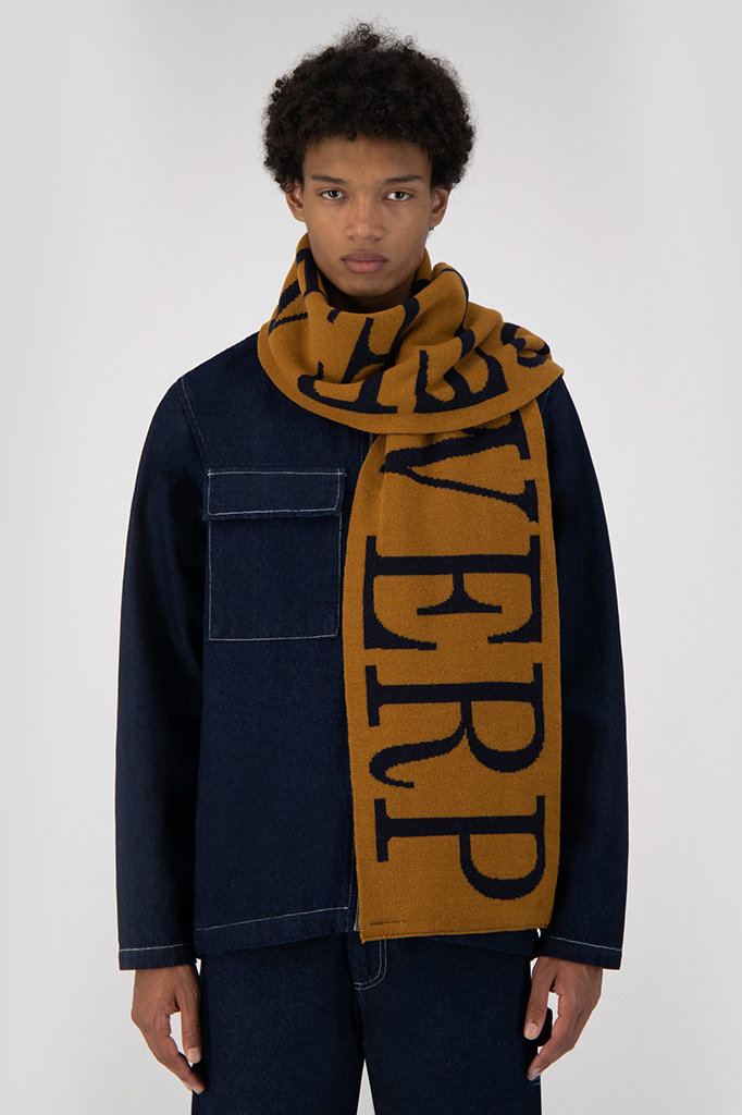 arte aron antwerp scarf - brown