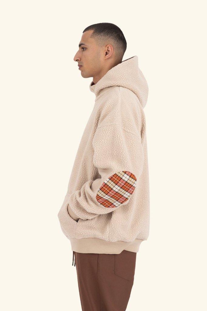 drôle de monsieur polartec hoodie - beige