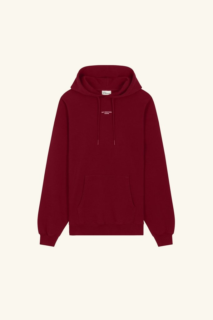 drôle de monsieur nfpm classic hoodie - burgundy