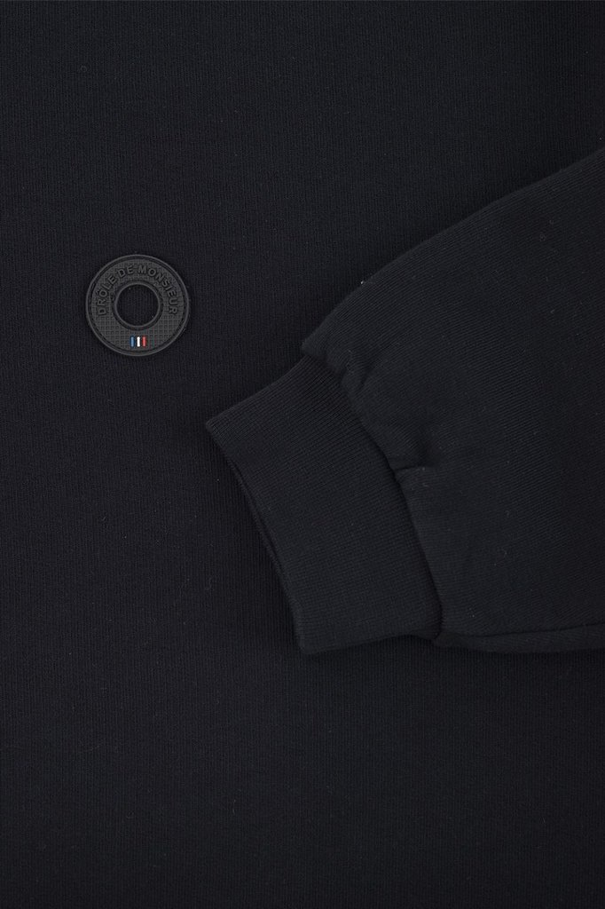 drôle de monsieur printed collar sweat - black