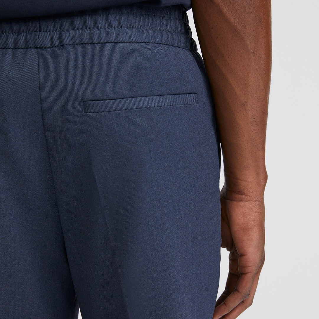 filippa k terry cropped pants - dark blue melange
