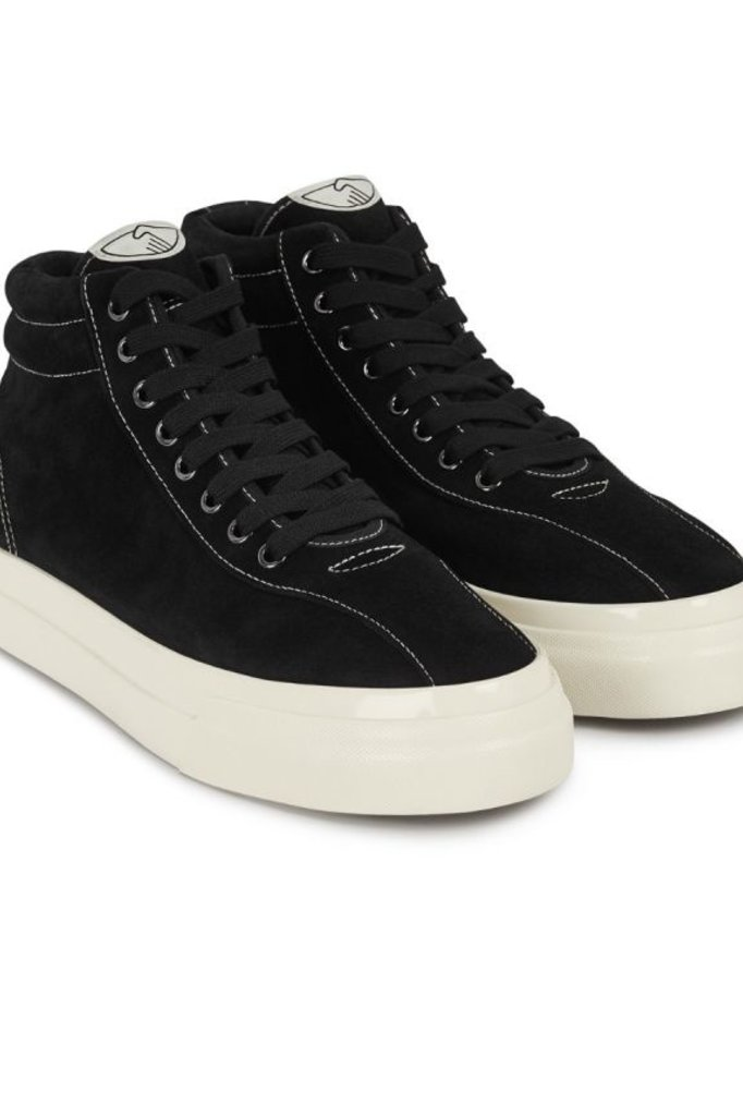 stepney workers club varden suede sneaker - black