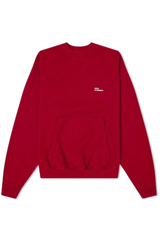 drôle de monsieur classic sweat - burgundy