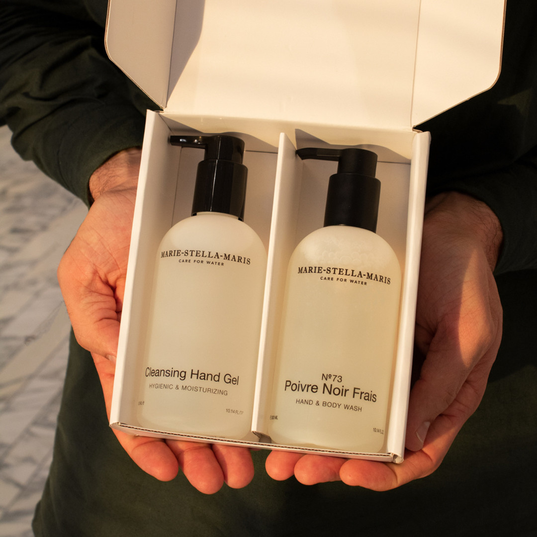 marie-stella-maris care to give cleansing hand gel + hand wash 2x300