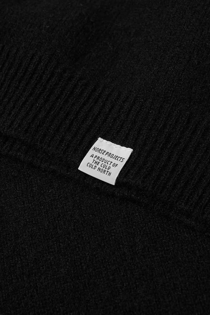 norse project sigfred lambswool knit - black