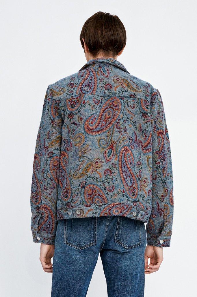 won hundred vinny pad jacket - paisley jaquard