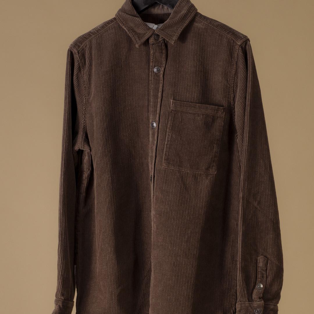 won hundred rex corduroy shirt - mayor brown