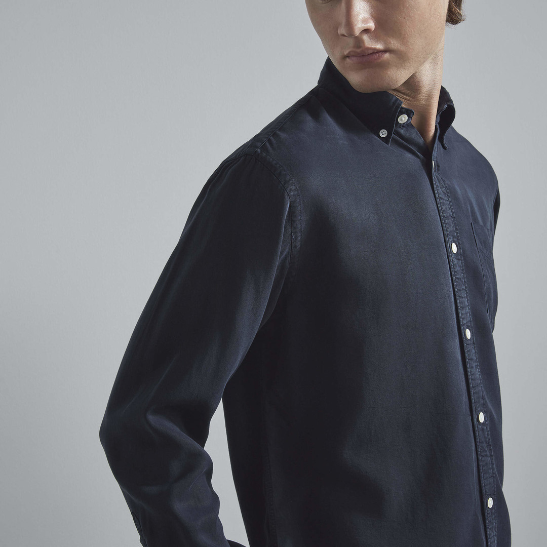 nn07 levon 5969 shirt - navy blue