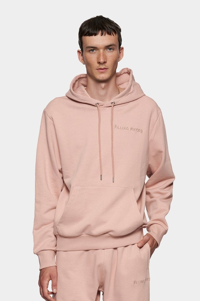 filling pieces essential core logo hoodie - soft pink